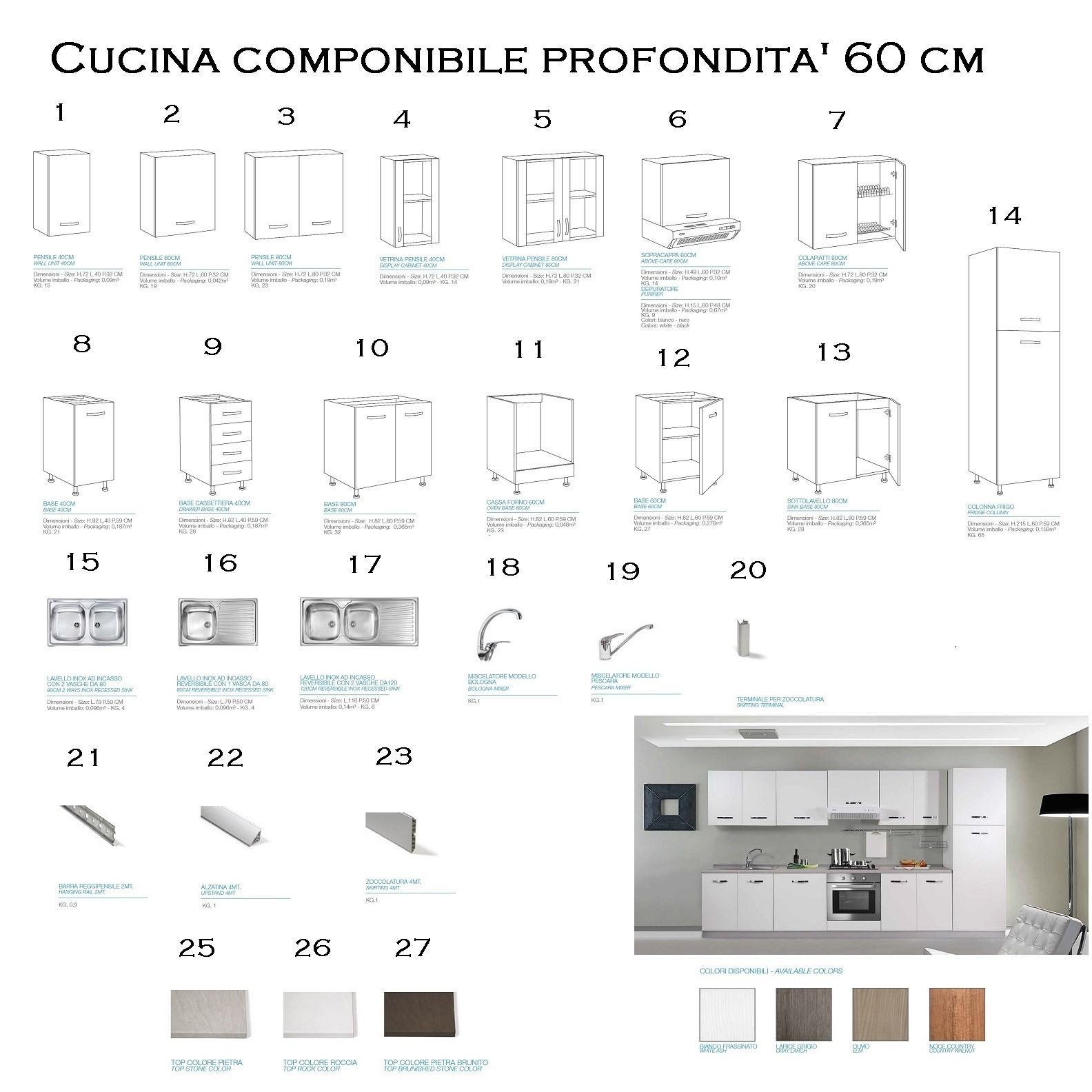 Cucina componibile MIlleidee