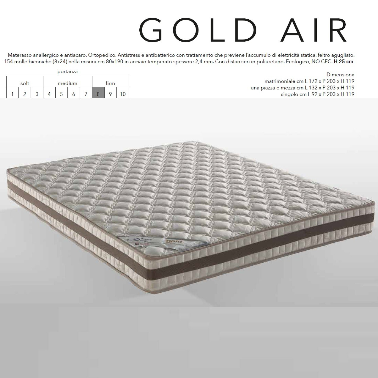 Materasso Gold Air Plus